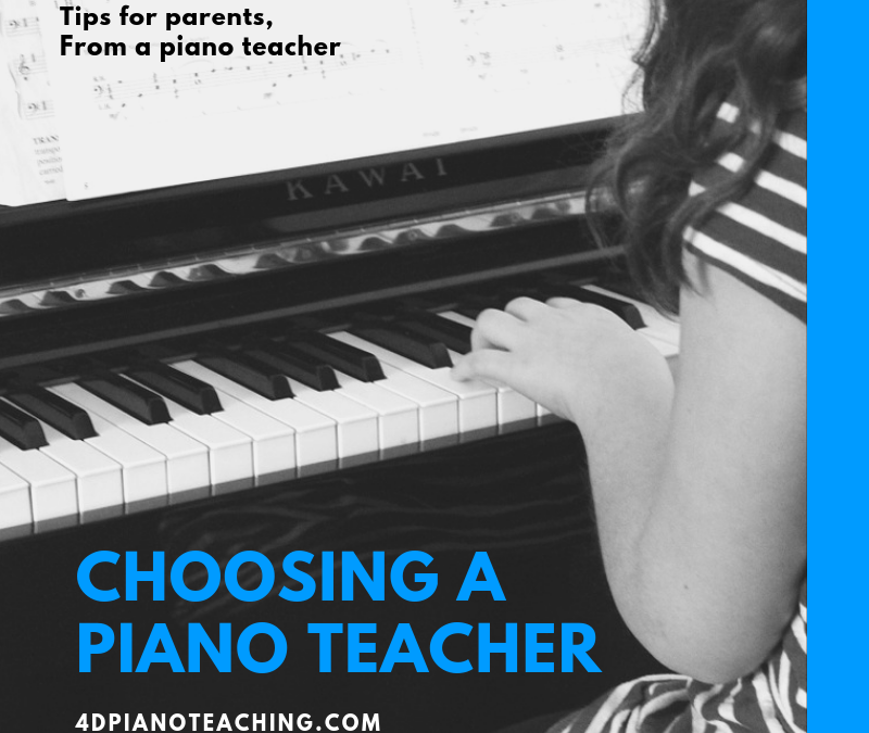 Choosing a Piano Teacher